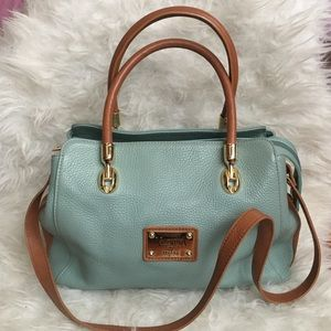Valentina mint teal green convertible bag